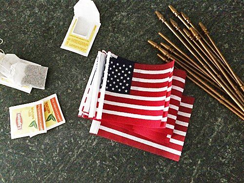 This was a last minute project I made using flags and burlap for a banner.  There's no sewing involved! Gather all your supplies.  I already had lots of burlap…