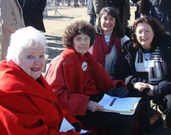 """(L to R) Dee Becker, Nellie Gray, Georgette Forney and Janet Morana: A year after her death, Nellie Gray – called the """"Joan of Arc of the pro-life movement"""" – is still having a profound impact on the annual March for Life that she started nearly 40 years ago."""