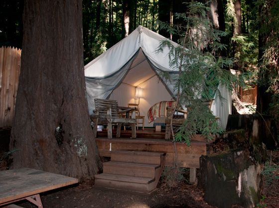 Adventure Tent at Fernwood Resort Big Sur - GLAMPING! (Elyse Recommends)