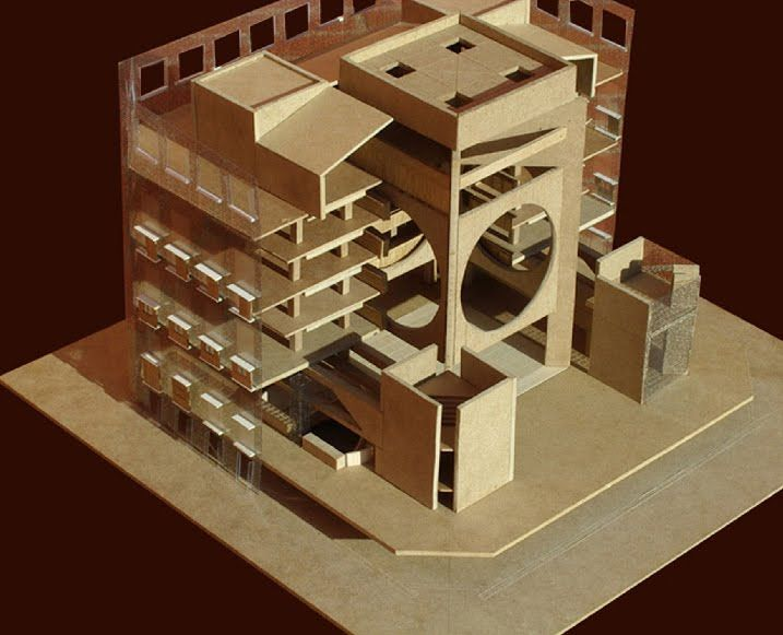 Kahn, Phillips Exeter Academy Library, architectural model