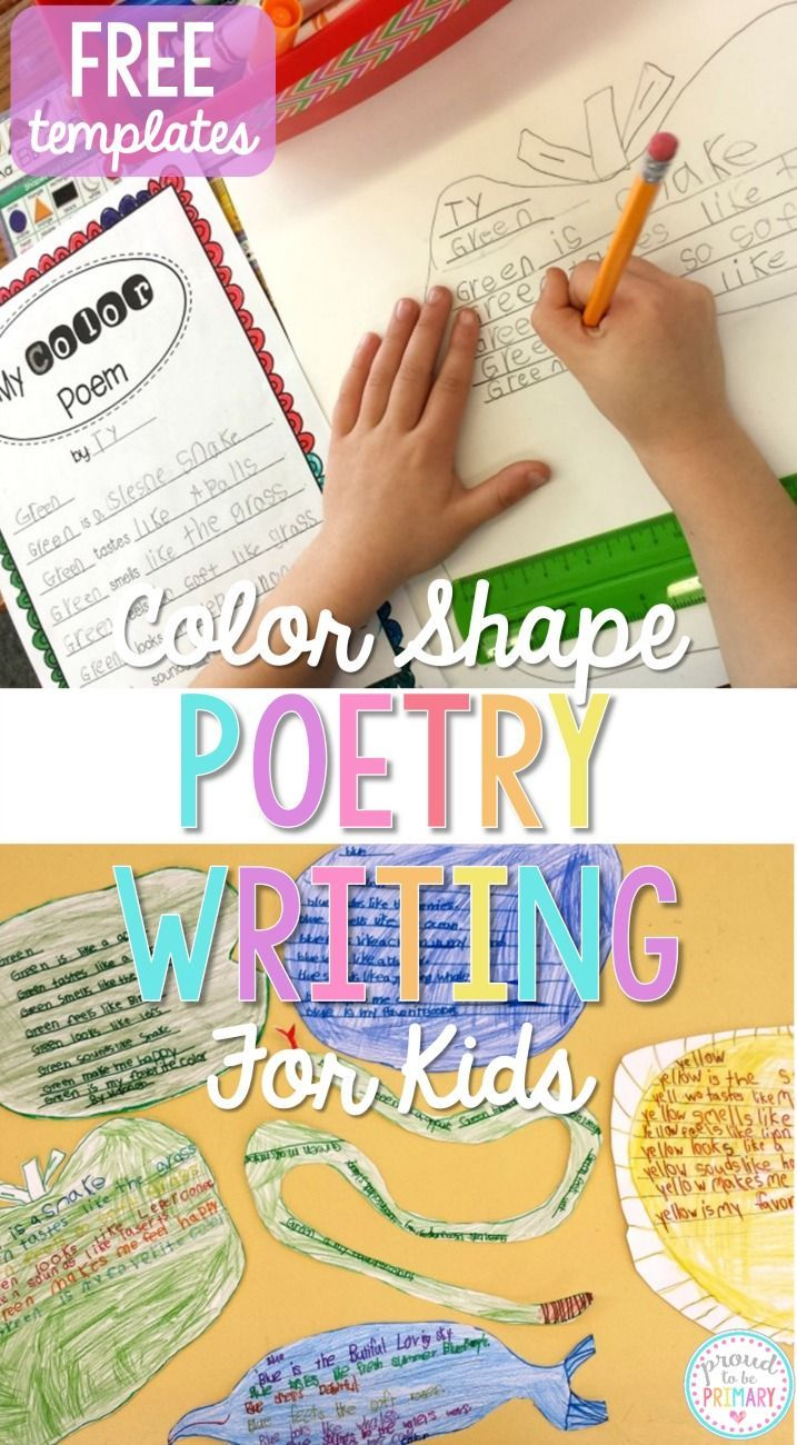Do you need fun and engaging activities to get children writing their own poetry? April is poetry month and this color shape poetry writing lesson is the perfect lesson for teachers. It also includes FREE templates for kids to plan and write their own poe