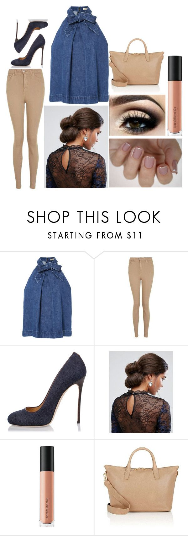 """""""Stephanie: August 25, 2017"""" by disneyfreaks39 ❤ liked on Polyvore featuring Ulla Johnson, Topshop, Dsquared2, ASOS, Bare Escentuals and Barneys New York"""