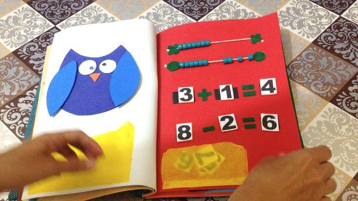 Como Fazer Livro Educativo Quiet Book em EVA e Filtro - DIY Artesanato