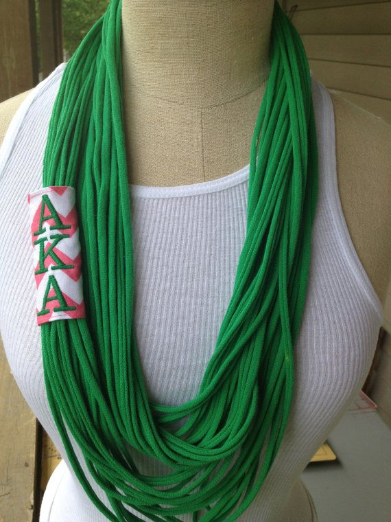 Alpha Kappa Alpha AKA Sorority Infinity Scarf/ by Revamped4U, $25.00