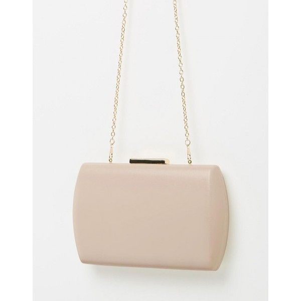 Izoa Bridgette Clutch Nude (610 DKK) ❤ liked on Polyvore featuring bags, handbags, clutches, nude clutches, nude purses and nude handbags
