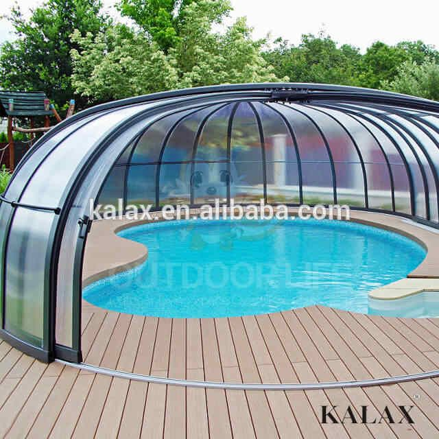 Source Polycarbonate Swimming Pool Cover Roof Retractable Aluminum Telescopics Pool Enclosure On M Alibaba Com Pool Best Above Ground Pool Pool Enclosures