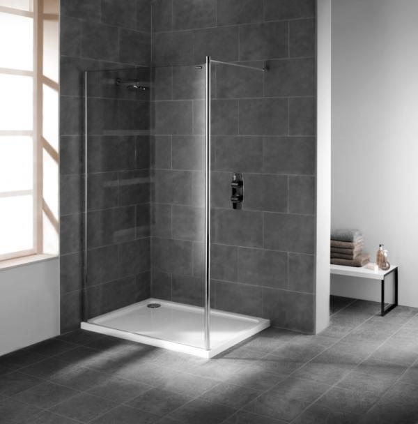 Ach, zo minimalistisch kan een douchebak toch best mooi zijn.