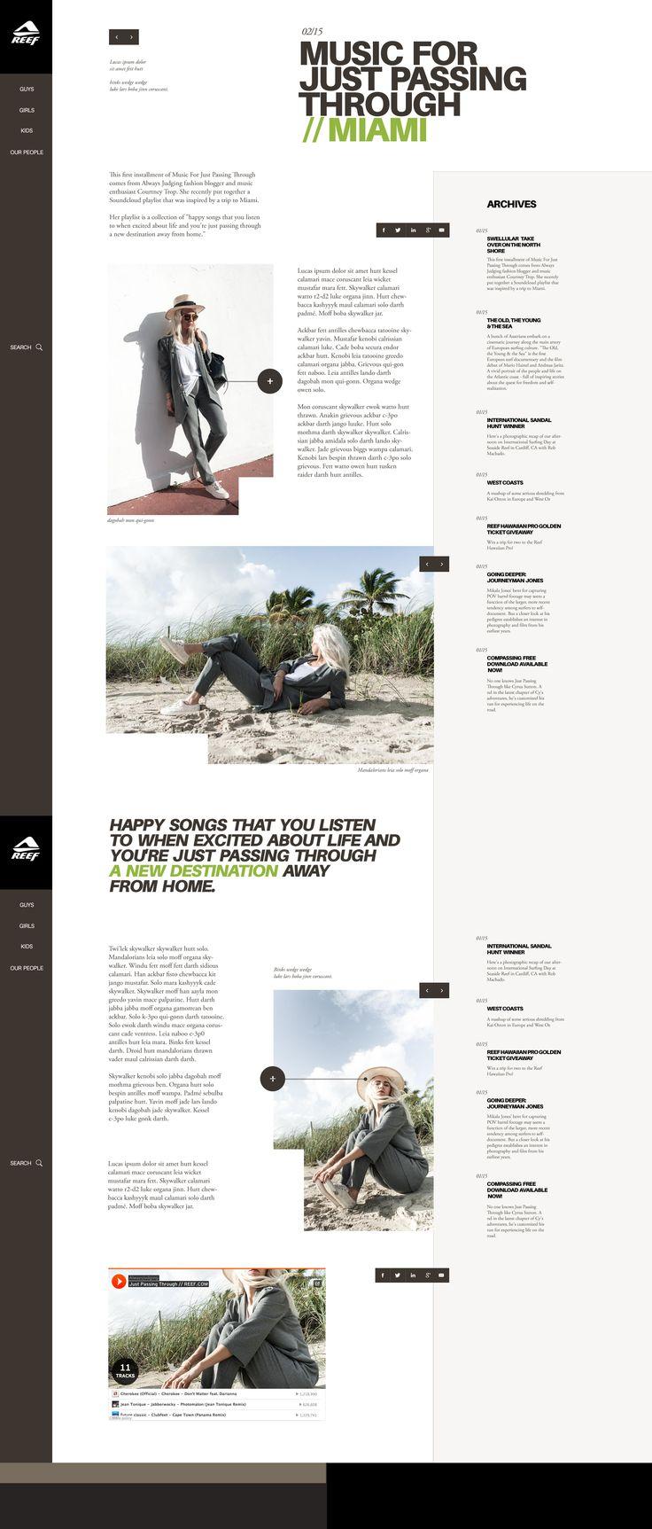 behancé    Thomas Le Corre    Web   Reef Concept      jpg (1920×4537)    Diseño interactivo Interfaz y exp. de usuario Diseño web