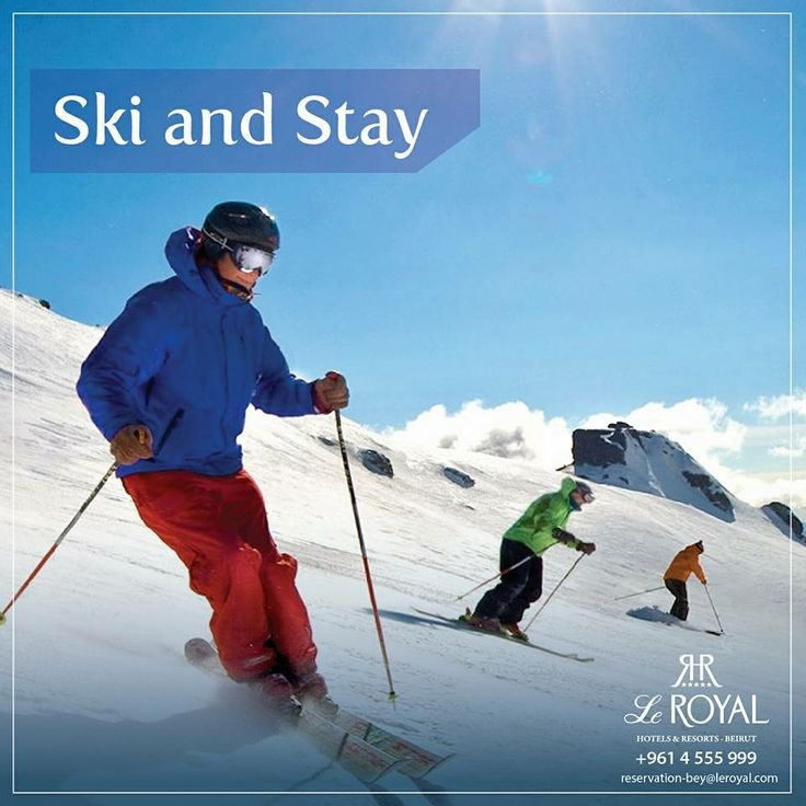 Ski and Stay at Le Royal Hotels and Resorts-Beirut  - Panoramic Sea view room for two - Buffet breakfast at Le Jardin Du Royal  - Free basic internet connection  - Access to the Royal Spa facilities  - In room coffee & tea station - Ski pass and ski equipment  - Skidoo ride for 15 minutes  - Back with late check-out until 5 pm,upon availability   Promotions offered upon availability . RSVP +961 4 555999 reservation-bey@leroyal.com