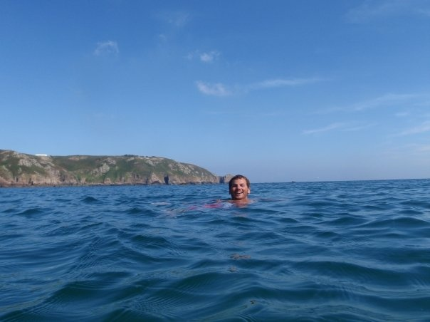 In my element - swimming in the sea off of my home island of Guernsey #greatwalker