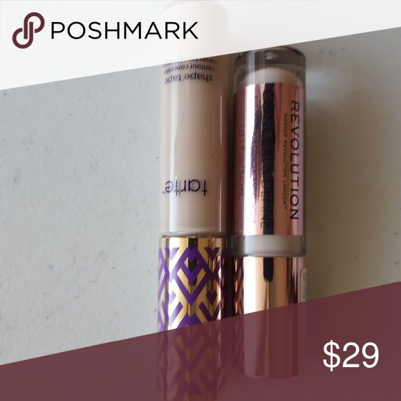 Concealer-Paket: Tarte & Makeup Revolution Tarte Shape Tape in hellneutral. Ma …   – My Posh Picks
