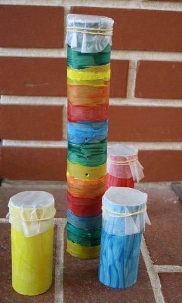 Make colorful kazoos from recyclables