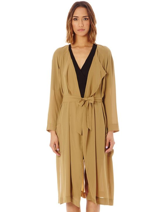 Side Split Trench Coat