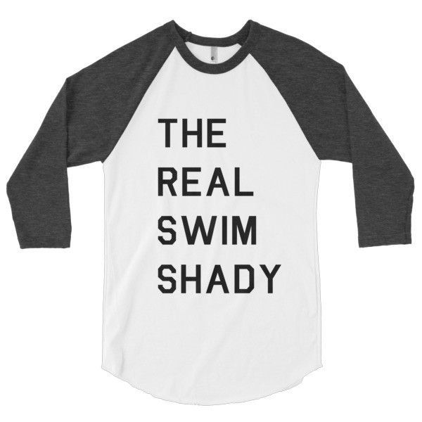 Swim Shady unisex 3/4 long sleeve jersey - Rory Lux Apparel - 9
