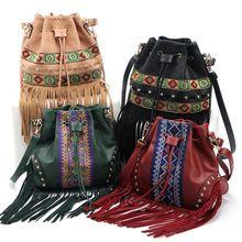 Designer handbags high quality women messenger bags national tassel crossbody shoulder bag ladies bolsa termica bolsas feminina(China (Mainland))