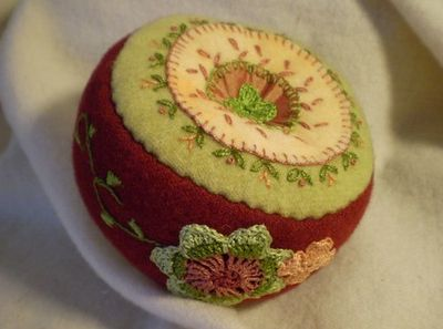 Wool, embroidery and crochet.