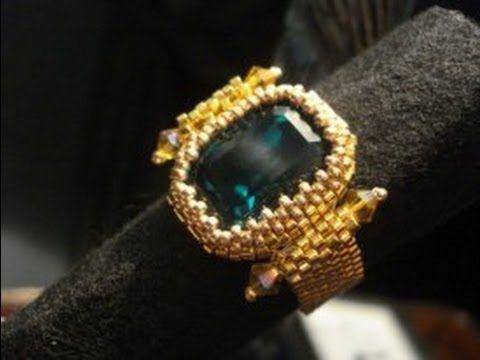 DIY Tutorial | Come incastonare un rettangolo con angoli vivi a peyote - Geometric Elegance Earrings - YouTube