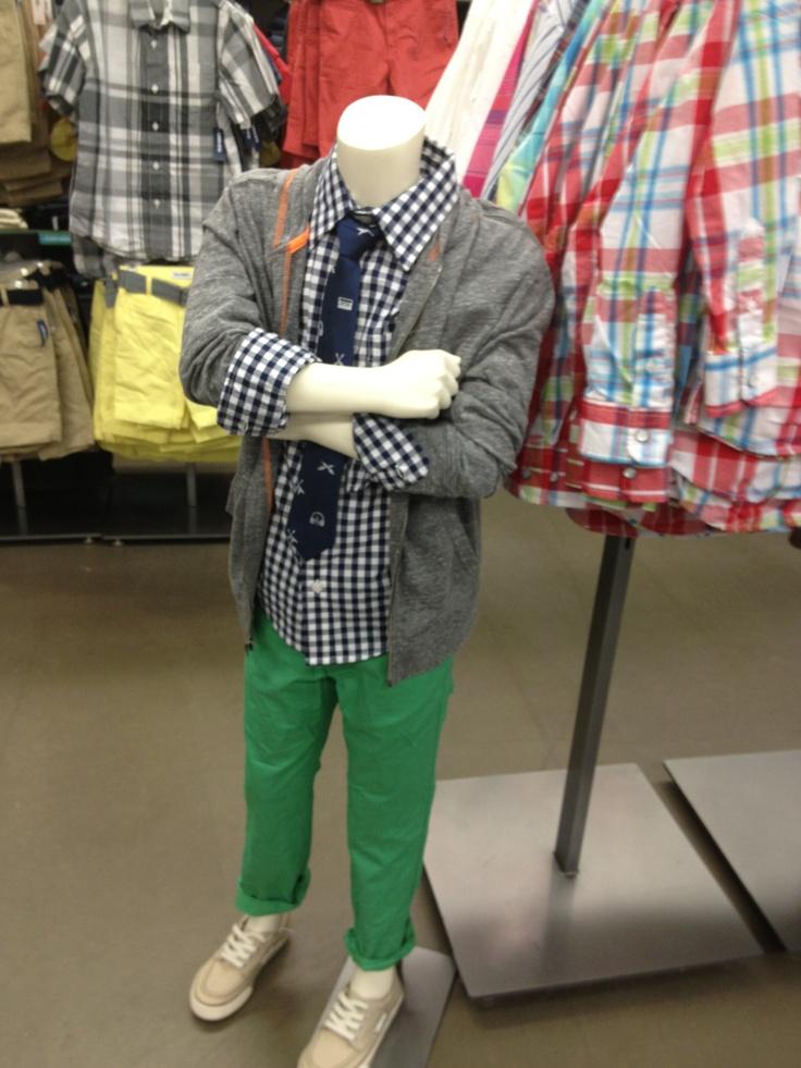 green boys pants - Pi Pants