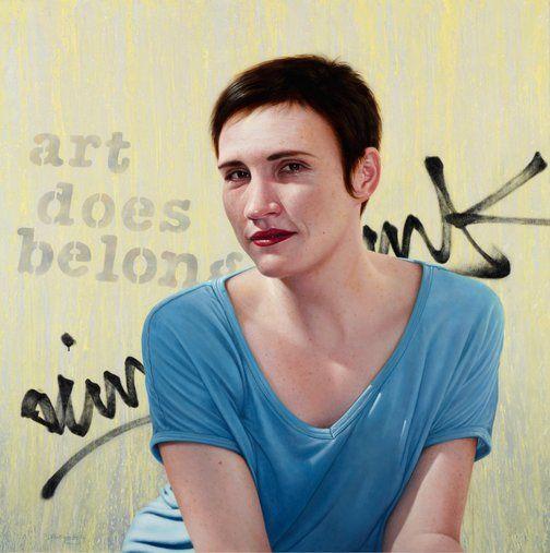 Nick Stathopoulos: Art does belong. Portrait of Fenella Kernebone :: Archibald Prize 2012 :: :: Art Gallery NSW