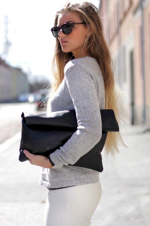 shades and bag