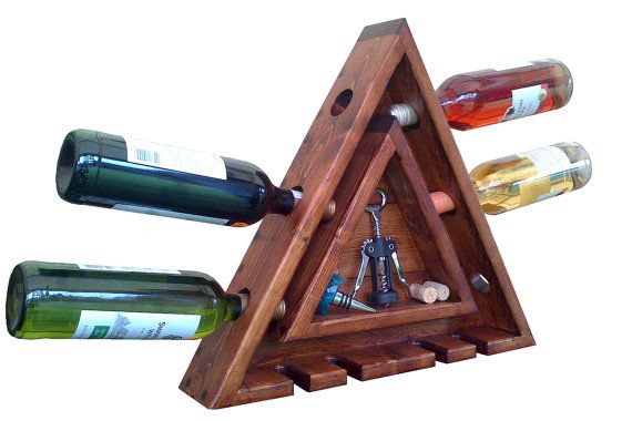 Wall Mounted Wine Rack by NicheWood on Etsy