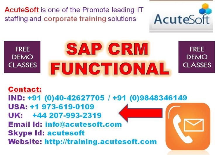 Boost your career in SAP CRM Functional At Acutesoft
