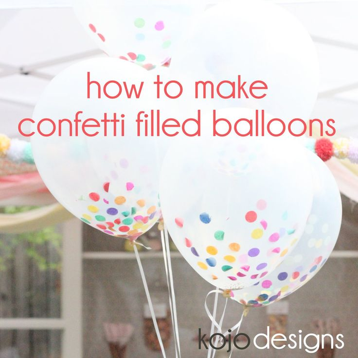 how to make confetti filled sprinkle balloons