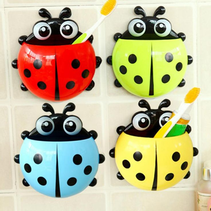 Bathroom Accessories Sets  1PC Ladybug toothbrush holder Toiletries Toothpaste Holder Bathroom Sets Suction Hooks Tooth Brush container ladybird on sale -- AliExpress Affiliate's Pin. Click the image to visit the website
