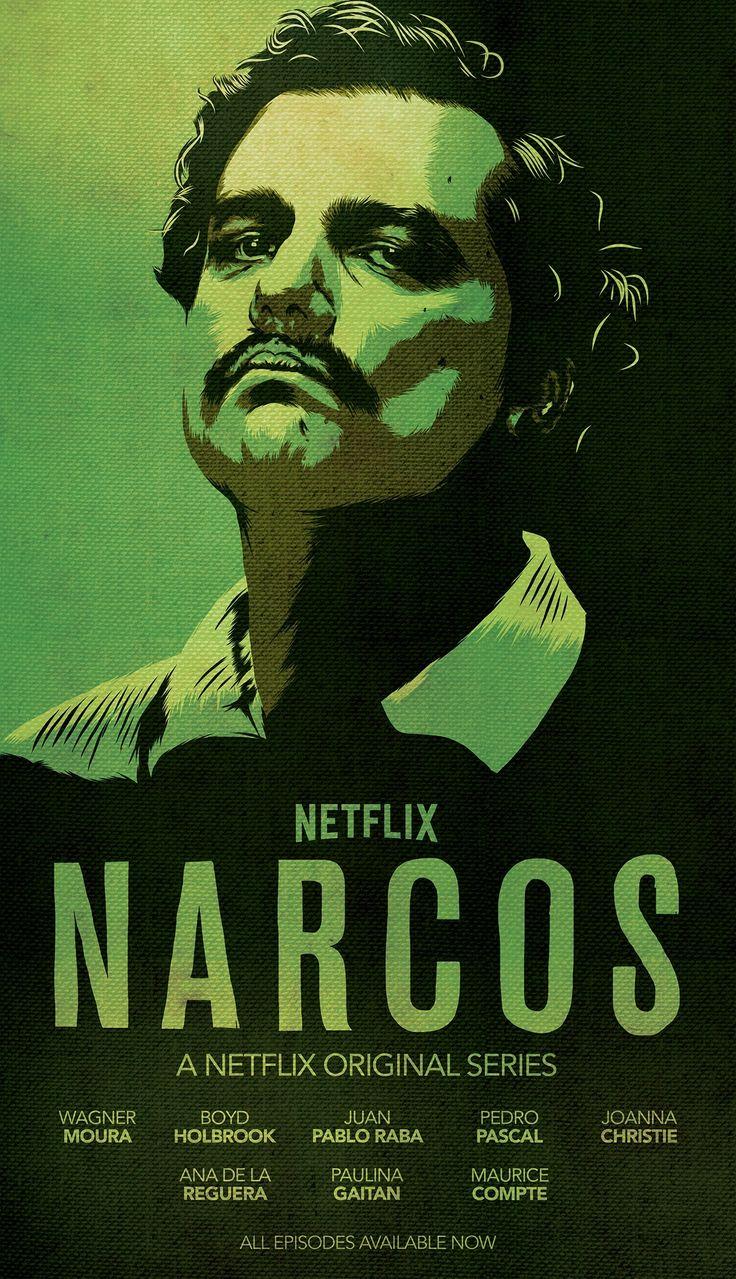 Narcos, de serie waar ik op dit moment mee bezig ben.