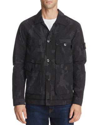 STONE ISLAND Camouflage Shirt Jacket. #stoneisland #cloth #