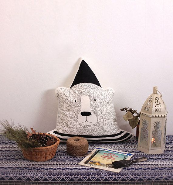 Deli Bear Pillow by DeliTime on Etsy