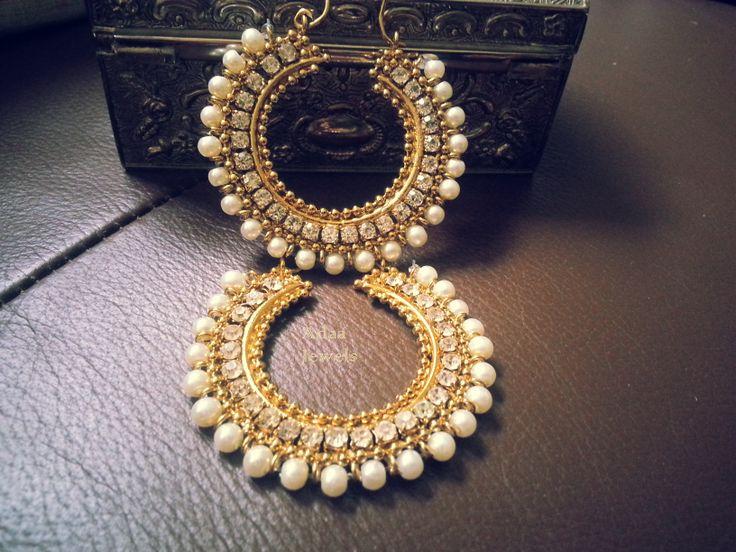 Gold Finish Chand Balis