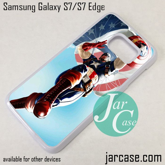 Captain America Parasuit Phone Case for Samsung Galaxy S7 & S7 Edge