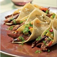 Chili-rubbed Skirt Steak Tacos by Amanda Sarmiento
