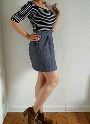 Kaufe meinen Artikel bei #Kleiderkreisel #marinestyle #kleid #denim http://www.kleiderkreisel.de/damenmode/kurze-kleider/133303054-lassiges-kleid-marine-style-blau-weiss