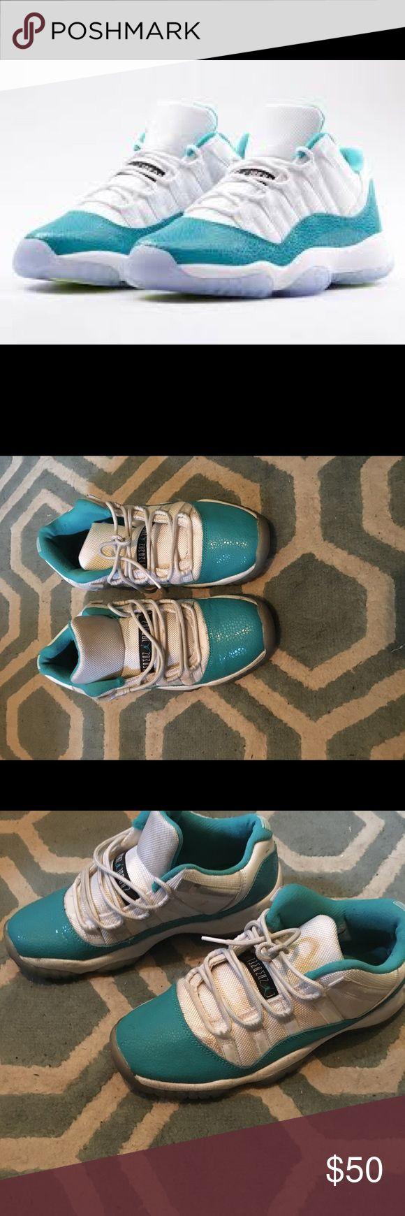 Air Jordan 11 snake print Low number 11s in teal snake print size 6 men size 8 women Air Jordan Shoes Sneakers
