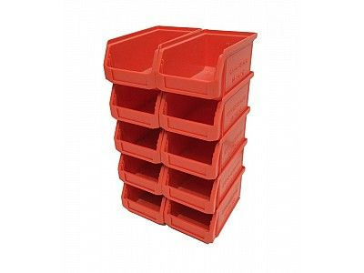 0.9 Litre Schaefer Lightly Used Open Fronted Stackable Storage Container Small Parts Bin