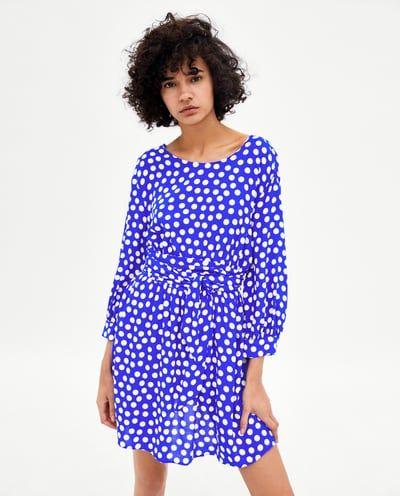81fb6c10 Image 2 of POLKA DOT DRESS WITH BELT from Zara   Shopping   Dresses ...