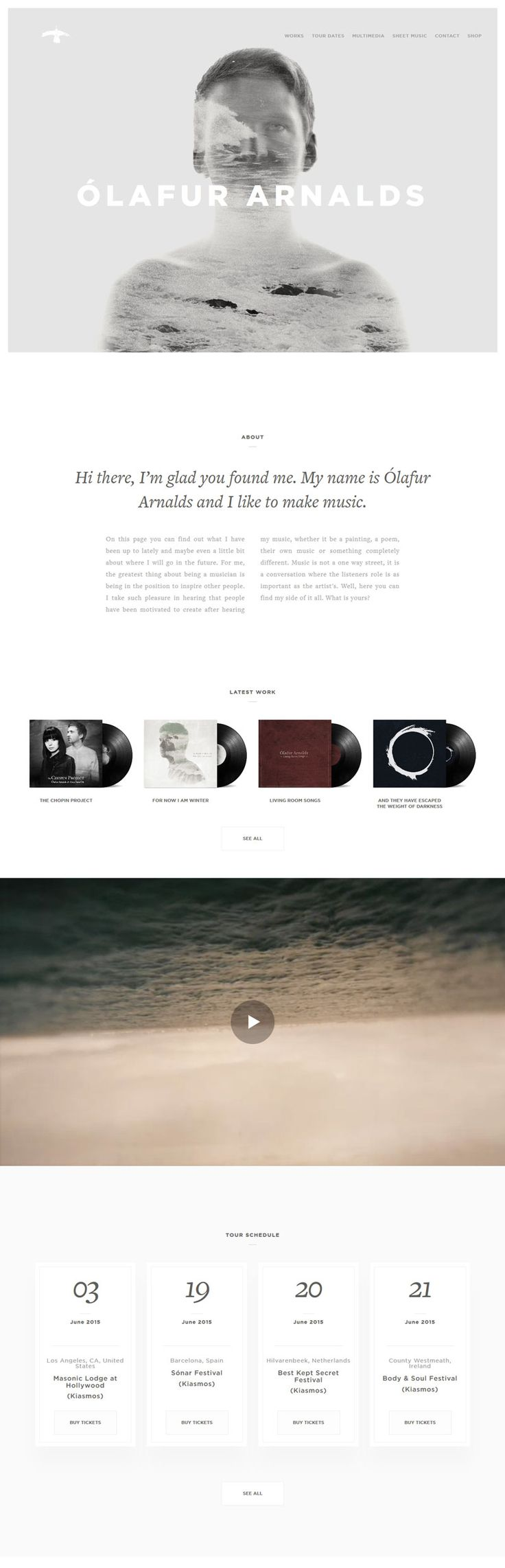 Olafur Arnalds - Clean and Minimal Design