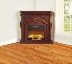 """42"""" Corner Cherry Fireplace from Big Lots $399.99 (With ..."""