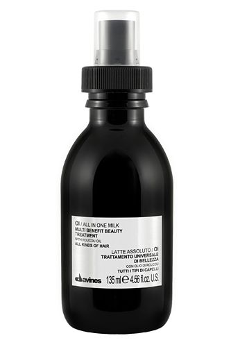 Summer Beauty Buys You'll Treasure When The Temps Rise: A literal hair miracle, this sleek black bottle contains a lushly scented leave-in treatment milk that leaves hair soft, silky, tangle-free, and prepped for heat styling. And did we mention that it smells amazing?   Davines Oi All In One Milk