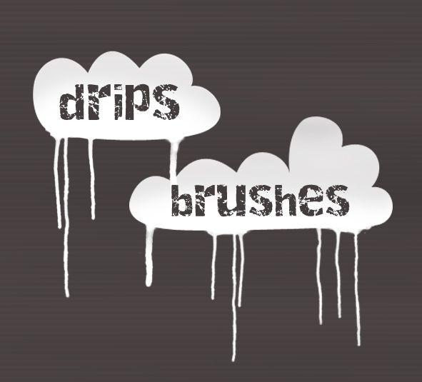 Drips Brush Set - Splat Photoshop Brushes   BrushLovers.com