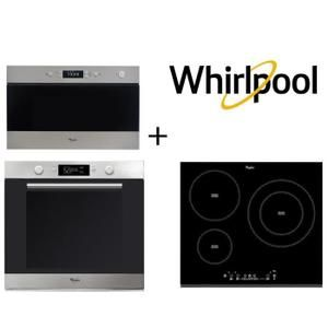 WHIRLPOOL AKZM740IX four + ACM860BF-Table de cuisson induction + AMW433IX Micro ondes 22 L