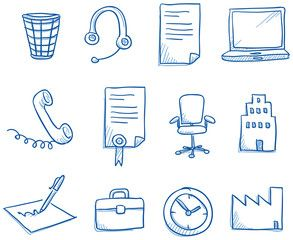 Icon set business office & communication