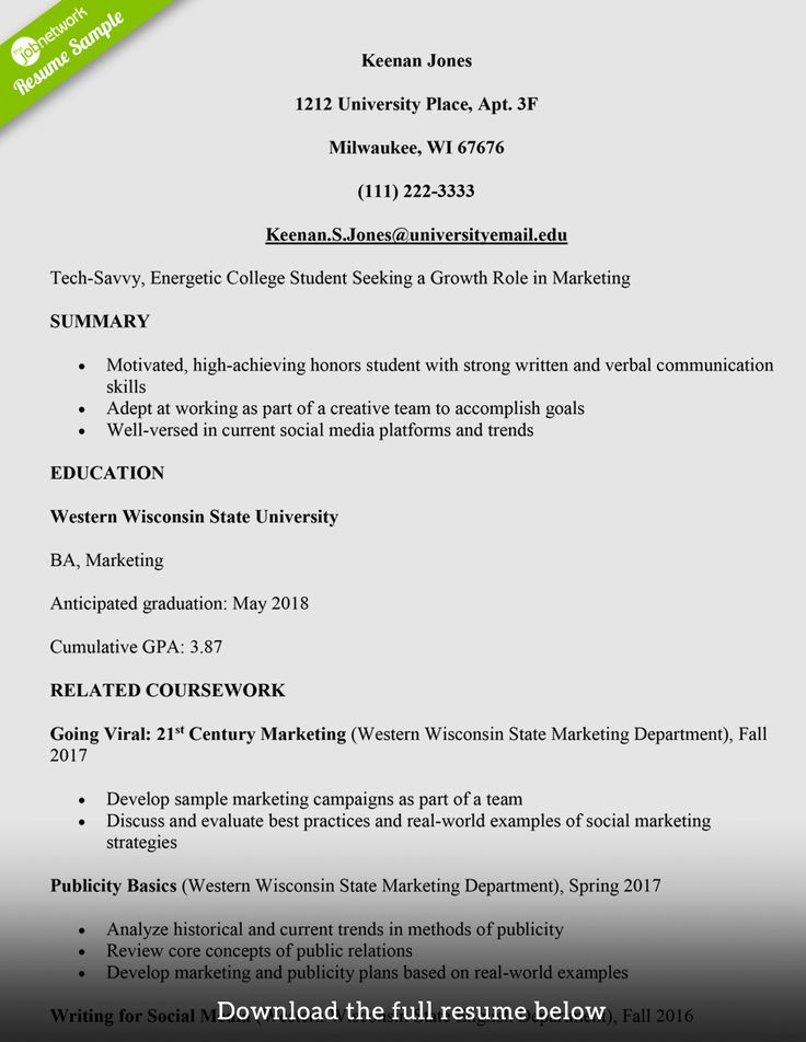 25 College Freshman Resume Template in 2020 (With images
