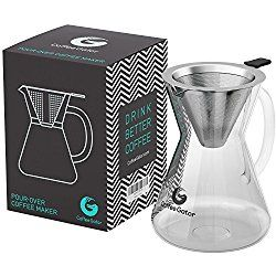 Dieser geniale Kaffeezubereiter kommt ganz ohne Papierfilter und Aluminium-Müll aus. Tolles Geschenk für alle Kaffeetrinker. Besuche meinen Blog für weitere Ideen für Koffeinsüchtige!