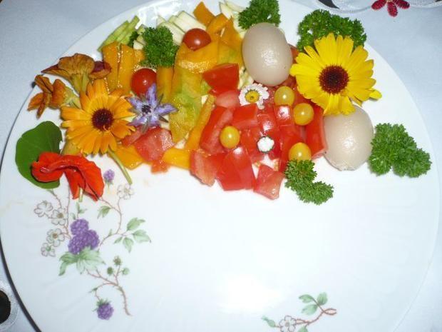 Pellkartoffeln, Tofupfanne, Rohkost - Rezept