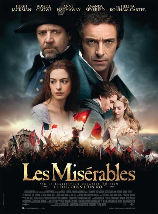Les Miserables (2012) - Synopsis:An adaptation of the successful stage musical based on Victor Hugo's classic novel set in 19th-century France, in which a paroled prisoner named Jean Valjean seeks redemption.