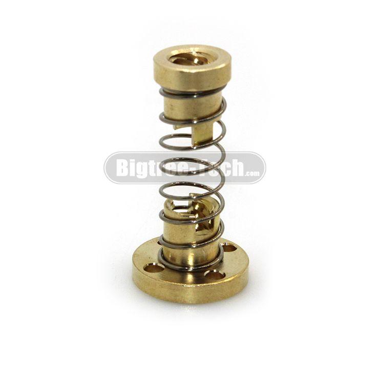 T8 Anti Backlash Spring Loaded Nut Elimination Gap Nut for 8mm Acme Threaded Rod Lead Screws DIY CNC 3D Printer Parts //Price: $1.92//     #storecharger