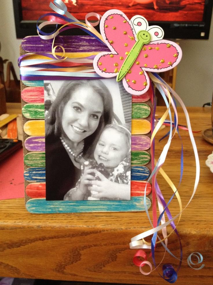 127 best craft stick crafts images on pinterest craft for Popsicle picture frame crafts